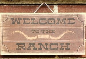 "Other - RANCH sign 12""x6"""